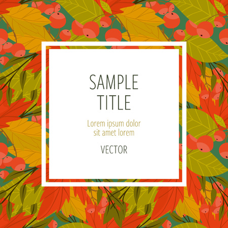 wind down: Autumn abstract background with fall leaf vector illustration Illustration