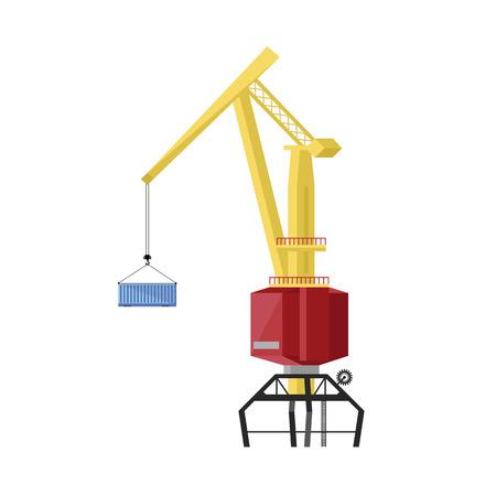 dockside: Dockside crane isolated on white background vector illustration