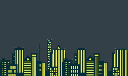 downtown district: Modern skyscrapers in business district. Downtown building. Cityscape landscape. City design architecture collection. Vector illustration. Illustration