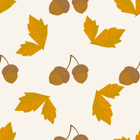 Nahtloses Muster Des Herbstes Hand Zeichnen Herbst Blatter