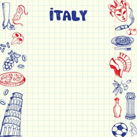 Italy National Symbols Italian Pizza Mafia Boss Cigar Branch