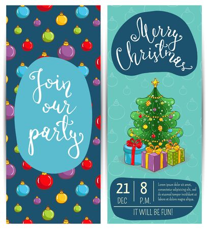 Invitation on christmas party with date and time wrapped gifts invitation on christmas party with date and time wrapped gifts near decorated toys christmas tree m4hsunfo