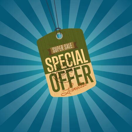 best ad: Special offer isolated sale sticker
