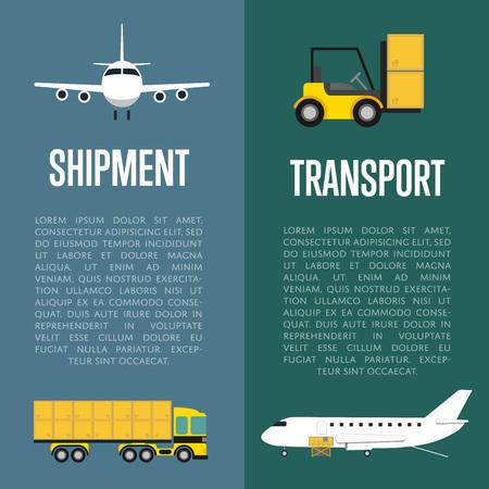 shipment: Shipment and transport flyers set
