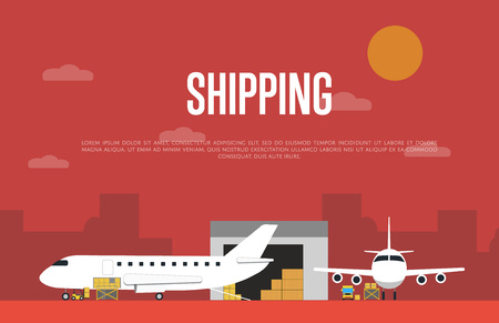 Commercial air shipping service banner