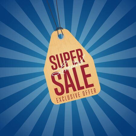 best ad: Super sale isolated discount sticker