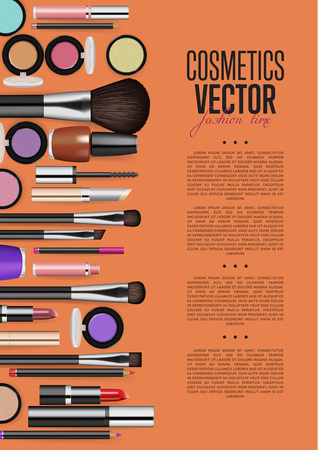 paint container: Cosmetic product Promo Brochure Page Vector Layout