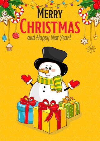 year: Merry Christmas and New Year Holiday Concept