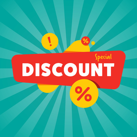 Special discount isolated sale sticker Illustration