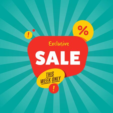 best ad: Exclusive sale isolated discount sticker