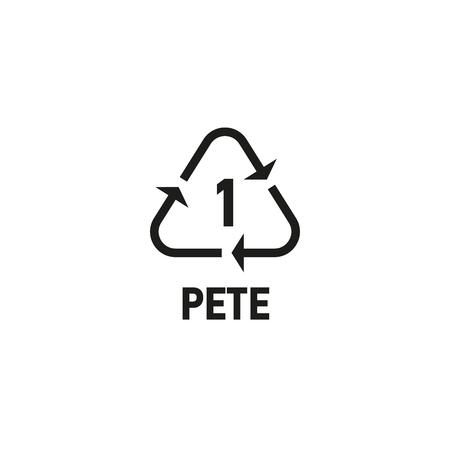 Plastic recycling symbool geïsoleerd op wit