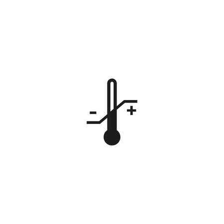 gamme de produit: Temperature limitation symbol on white background