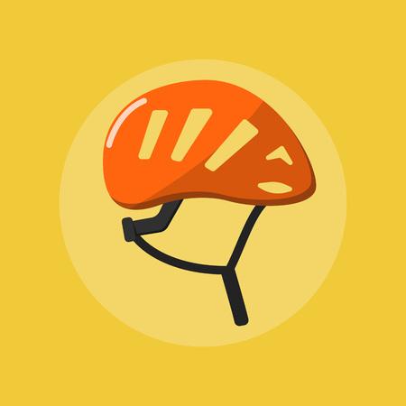 climbing helmet raster flat icon