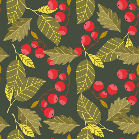 cooper: Autumn background with fall leaf raster illustration