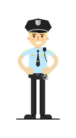 patrolman: Police officer in uniform illustration.