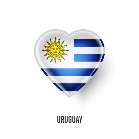 flag: Patriotic heart symbol with Uruguay flag