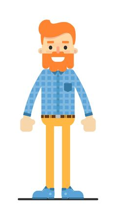 redheaded: Handsome redheaded bearded hipster character