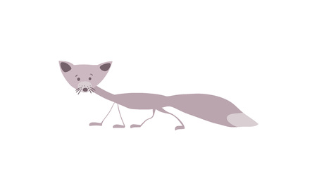 Polar fox personage vector illustration Illustration