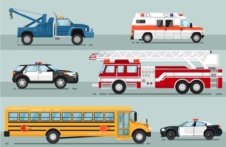 City emergency transport isolated set