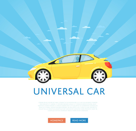 Website design with universal city car