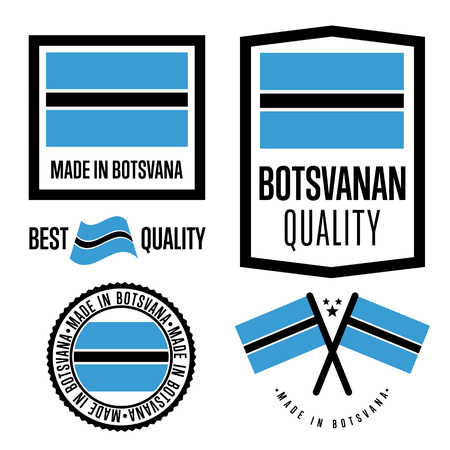 botswanan: Botswana quality label set for goods Illustration