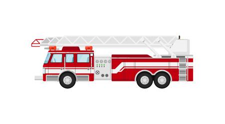 Camion de pompier isolé vector illustration Banque d'images - 78679406