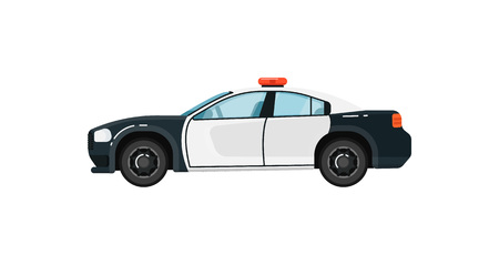 Police car isolated vector illustration