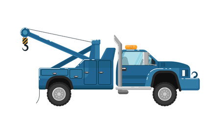 Tow truck isolated vector illustration
