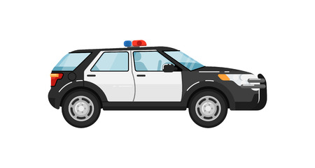 Police suv car isolated vector illustration Illustration