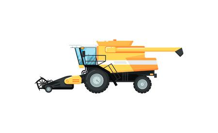 Agriculture combine harvester vector illustration