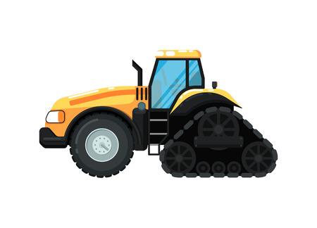 Caterpillar farm tractor vector illustration