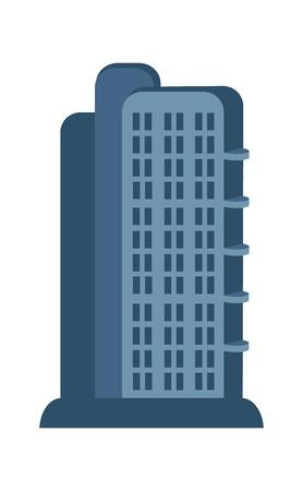 multi storey: Modern skyscraper isolated vector icon.