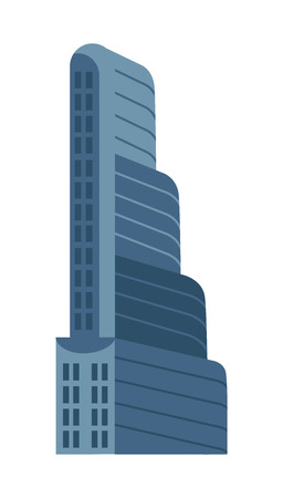 multi storey: Modern multi storey building isolated vector icon.