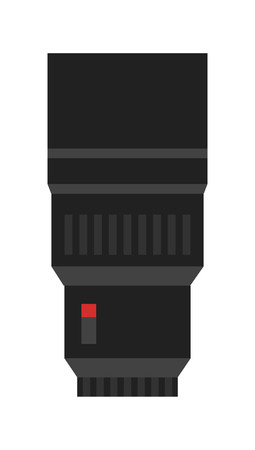 Professional zoom lens vector icon.