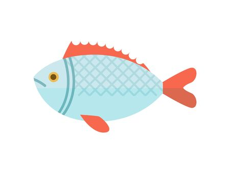 Crucian river fish isolated vector icon