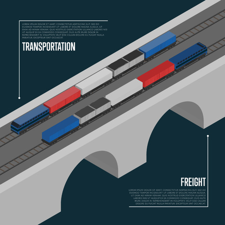 freight transportation: Freight transportation isometric banner