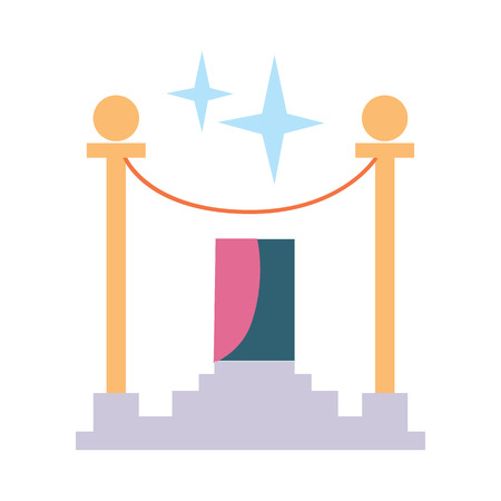 Award rope barrier vector icon