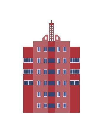 Modern skyscraper isolated icon