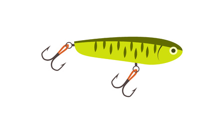 pike: Fishing lure icon in flat style Illustration