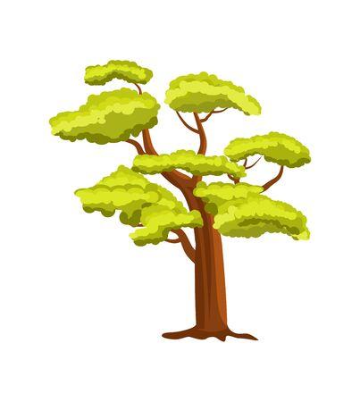 ブナの緑の木のアイコン  イラスト・ベクター素材