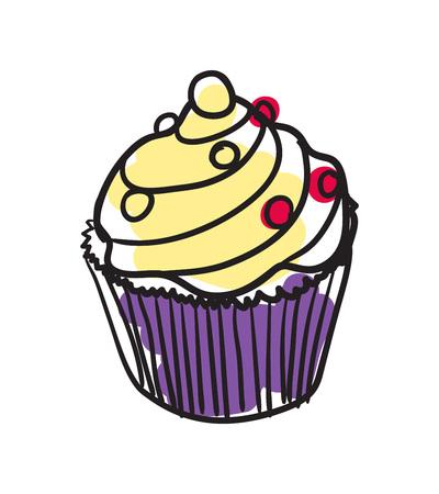 english culture: English dessert hand drawn isolated icon