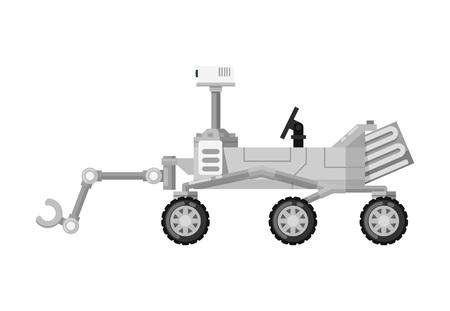현대 화성 탐사자 고립 된 아이콘 일러스트