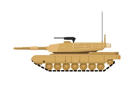 Modern combat tank isolated icon Illustration