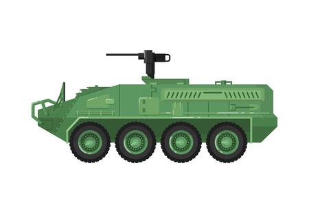 Modern combat vehicle isolated icon Illustration