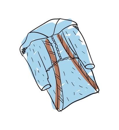 tunic: Nation eskimos clothes hand drawn isolated icon