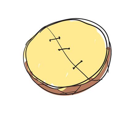 Shamanic tambourine hand drawn isolated icon