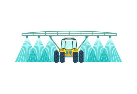 Tractor drenken veld vector pictogram Stock Illustratie