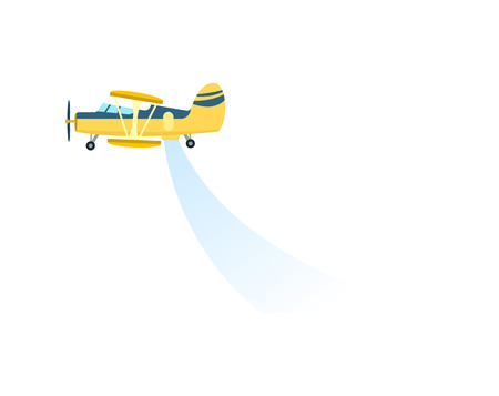 Airplane spraying field vector icon