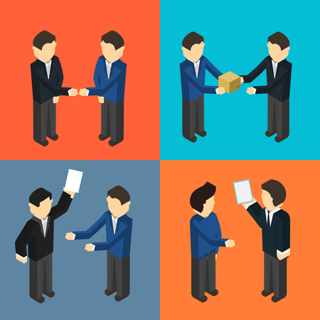 Cooperating delivery managers isometric set
