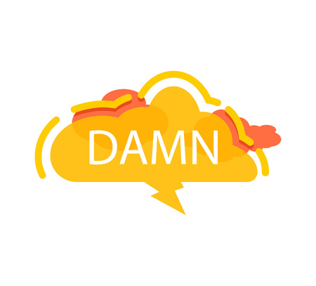 Dawn speech bubble with expression text